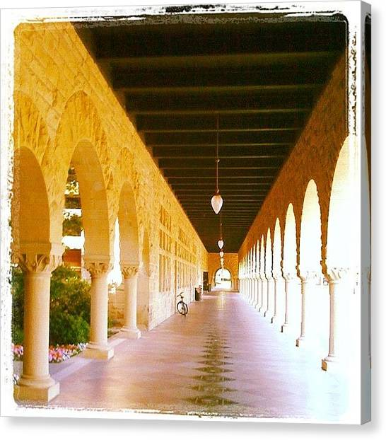 Stanford University Canvas Print - Halls Of Learning - Stanford University by Anna Porter
