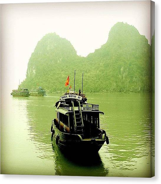 Vietnamese Canvas Print - Halong Bay by Carlos Macia Perez