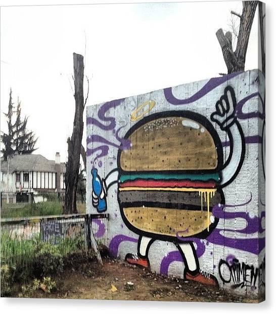 Hamburger Canvas Print - #hamburguesa #hamburger #santiago by Sebastian Mayorga