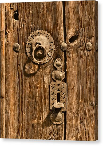 Canvas Print featuring the photograph Safranbolu, Turkey - Hammered Hardware by Mark Forte