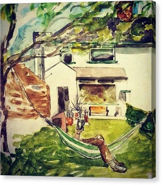 Irish Canvas Print - Hammock by Lisa Catherwood