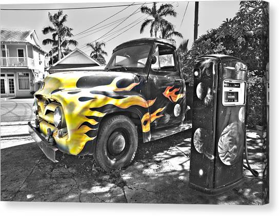 Hanapepe Truck - Yellow Highlights Canvas Print