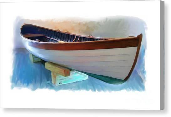 Hand Crafted Boat Painting Canvas Print by Earl Jackson