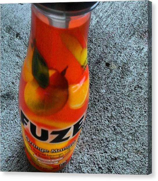 Juice Canvas Print - Hand Down, #best #drink Ever! #fuze by Chelsea Qualls