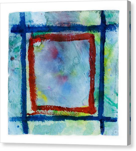 Hand Painted Square Frame   Canvas Print