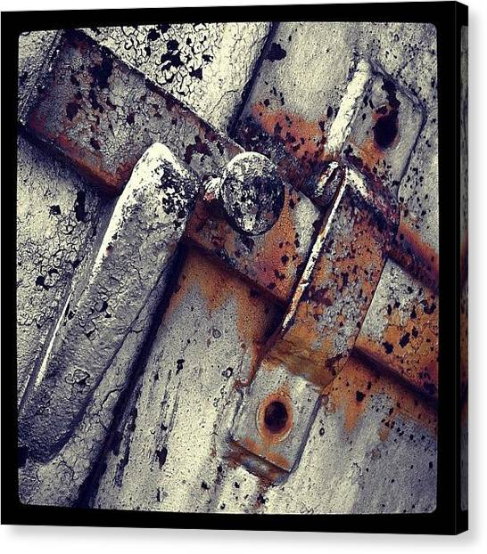 Rust Canvas Print - Handle by Dave Edens