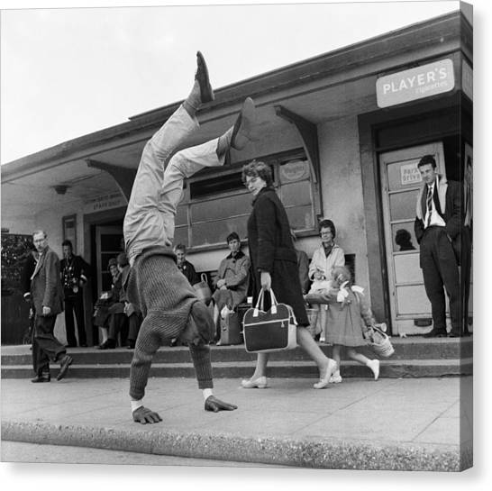 Handstand Canvas Print by John Drysdale