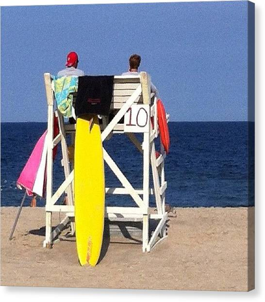 Lifeguard Canvas Print - Hang 10! (it Just Hit Me, Lol!  I by Mommy Inkwell