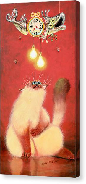 Himalayan Cats Canvas Print - Hang Time by Baron Dixon