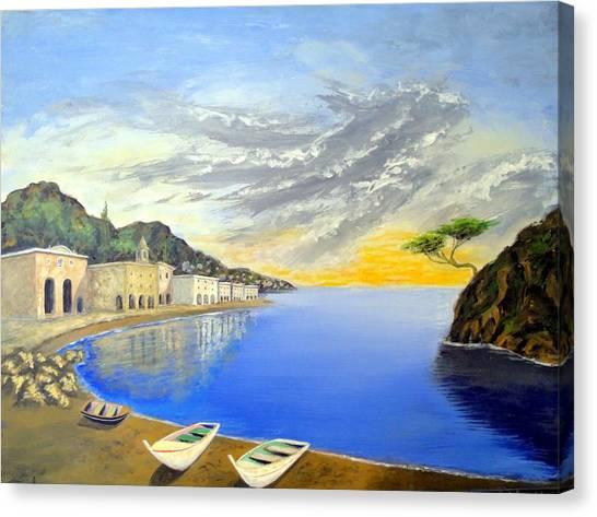Hanging Tree On The Mediterranean Canvas Print