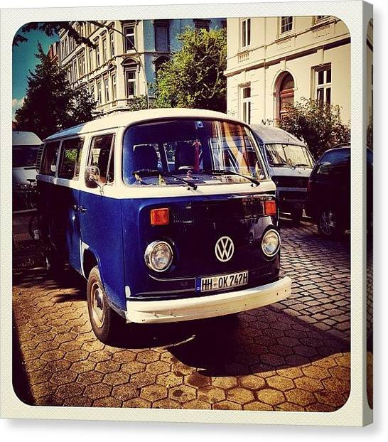 Vw Bus Canvas Print - #hansefamous #igershamburg by Ilan Mizrahi