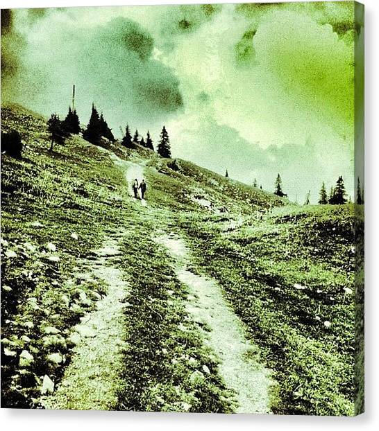 Swiss Canvas Print - Happiness Is A Journey, Not A by Marianna Tamas