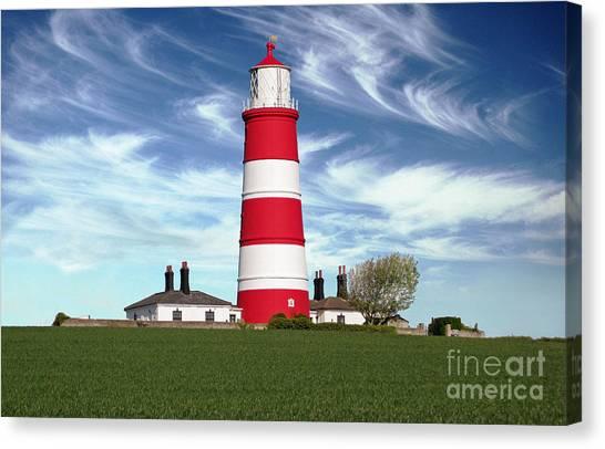 Happisburgh Lighthouse - Norfolk Canvas Print by Rod Jones