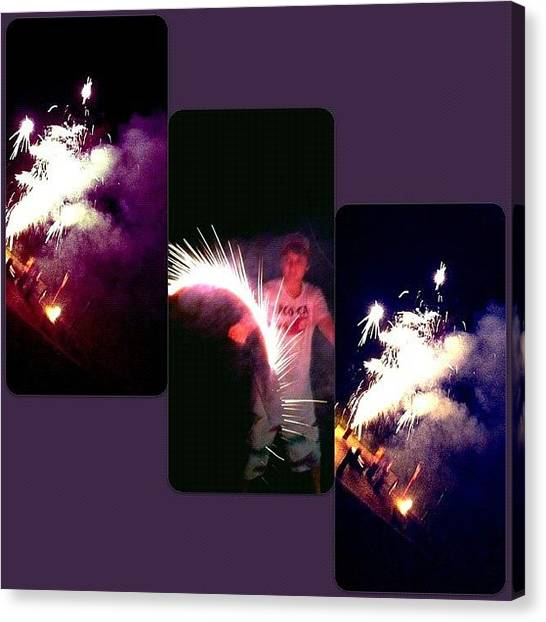 Fireworks Canvas Print - #happy #4th #4thofjuly #independenceday by Lori Lynn Gager