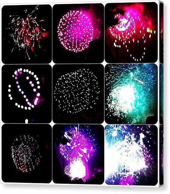 Fireworks Canvas Print - Happy 4th Instagrammers by Rick  Annette