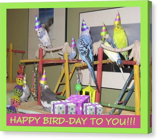 Happy Bird-day Canvas Print