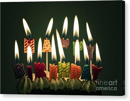 Happy Birthday Canvas Print by Catherine MacBride