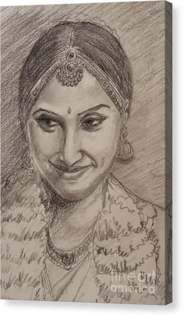Happy Bride Canvas Print