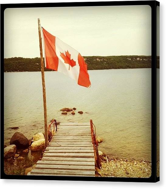 Ontario Canvas Print - Happy Canada Day by Samantha Blanchette