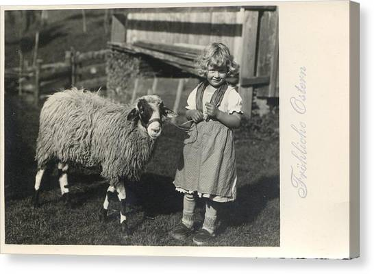 Happy Easter 1935 Canvas Print