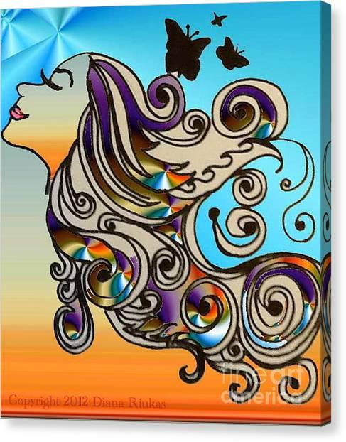 Happy Girl Canvas Print