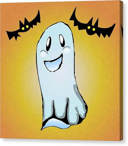 Bats Canvas Print - Happy Halloween #mvdp by Malcolm Van Atta III