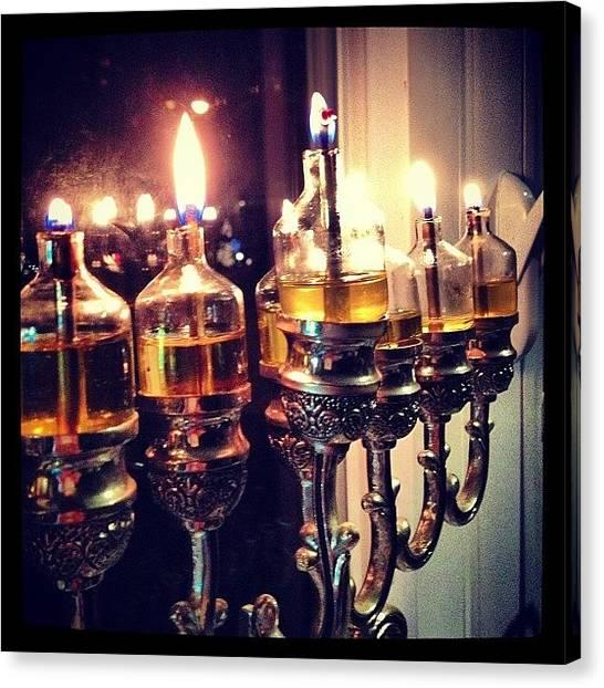 Judaism Canvas Print - #happy #hannukah #oil #6 #judaism by Arkady Sandler