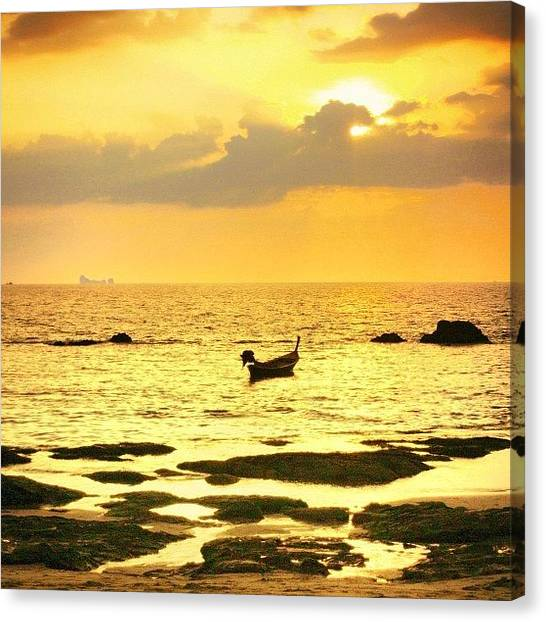 Travel Canvas Print - Happy Hour #thailand #travel by A Rey