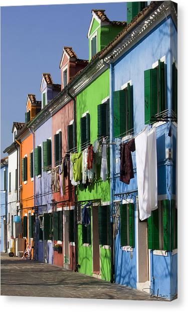 Happy Houses Canvas Print