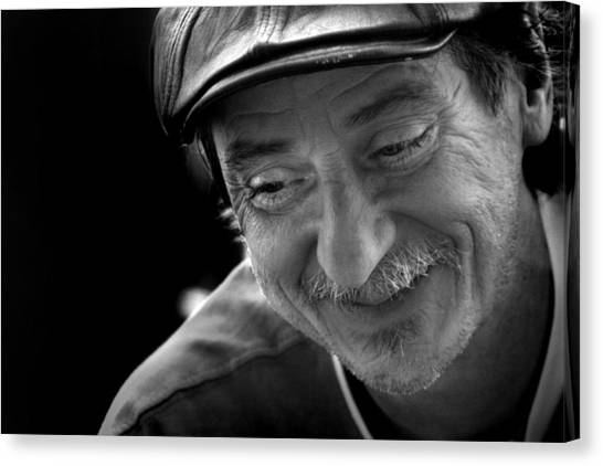 Canvas Print featuring the photograph Happy Man by Kelly Hazel