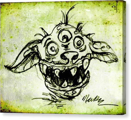 Happy Monster  Canvas Print