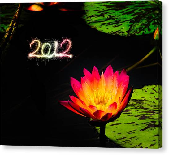 Happy New Year 2012 Canvas Print