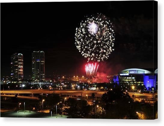 Tampa Bay Lightning Canvas Print - Happy New Year Tampa Bay by David Lee Thompson