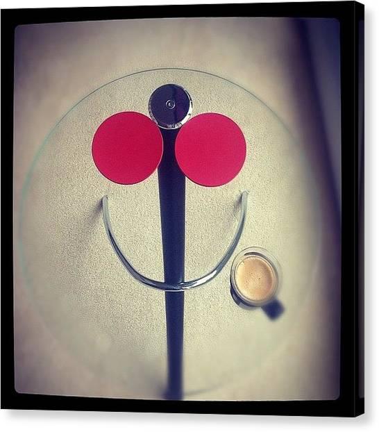 Tables Canvas Print - Happy Table by Kurt Skeels