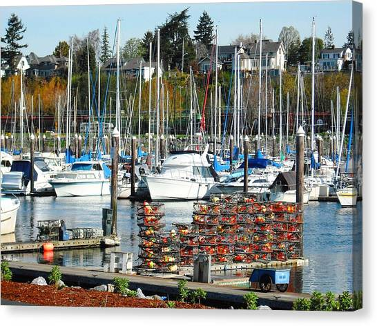 Harbor At Bellingham Canvas Print