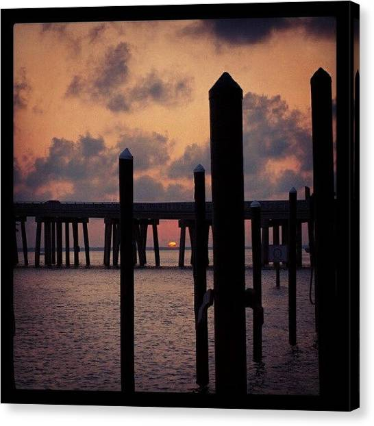 United States Of America Canvas Print - Harbor Sunset by James Granberry