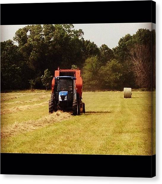 Farmers Canvas Print - Hard At Work by Patsy Smith