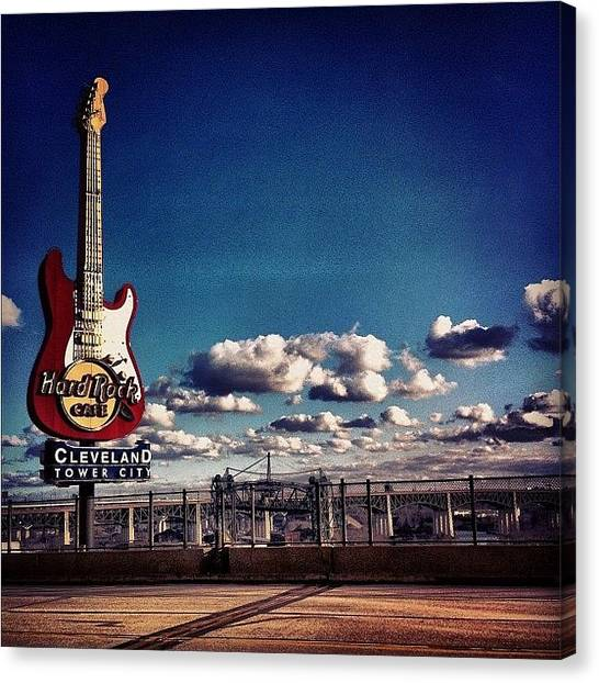 Guitars Canvas Print - Hard Rock Guitar by Matthew Barker