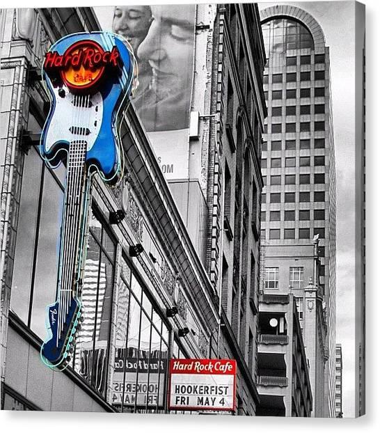 Yen Canvas Print - Hardrock Café In Seattle #hardrock  #0 by Kee Yen Yeo