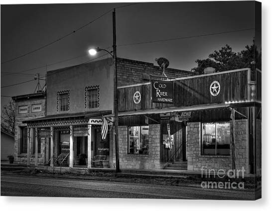 Hardware Store In Small Town Usa Canvas Print by Andre Babiak