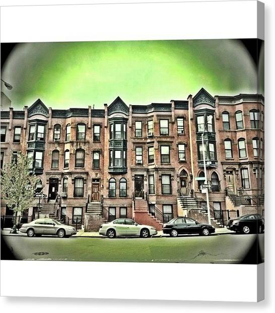 Harlem Canvas Print - #harlem #building #architecture by Kirshan Murphy