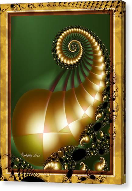 Harlequin Spirals Canvas Print