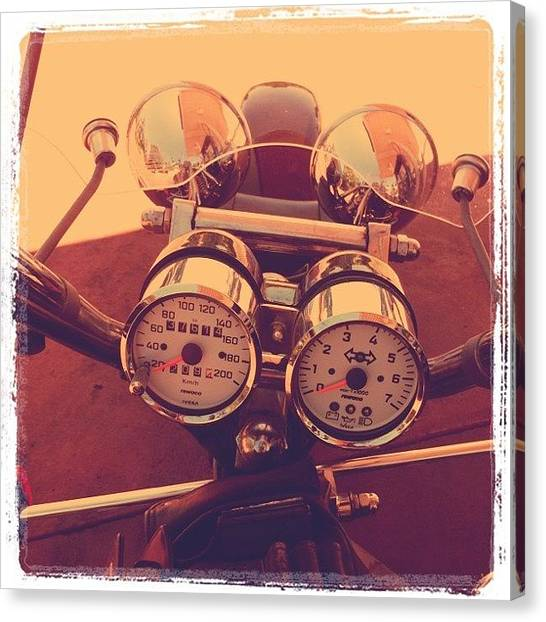 Harley Davidson Canvas Print - Harley by Bonnie Mulholland