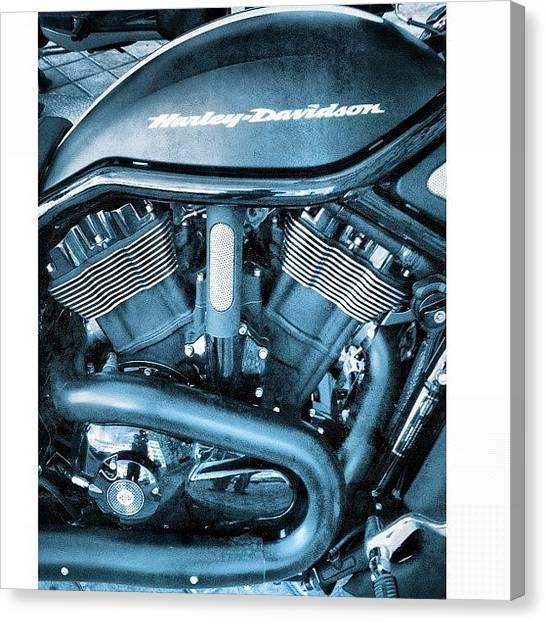 Harley Davidson Canvas Print - Harley-davidson by Carlos De la Cruz