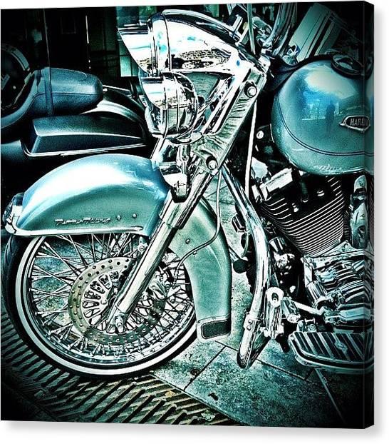 Harley Davidson Canvas Print - Harley Davidson by Ursula  Wolfangel-Hoppmann