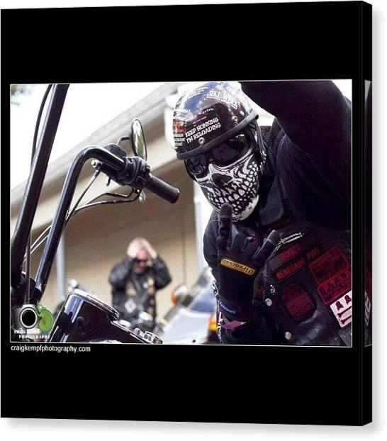 Harley Davidson Canvas Print - #harley #harleydavidson #bike by Craig Kempf
