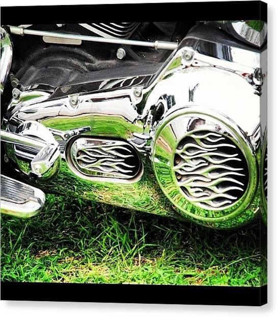 Harley Davidson Canvas Print - #harley #motorcycle #bike #davidson by James Dornan