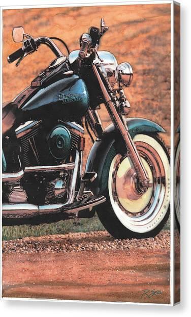 Harley Softtail Canvas Print