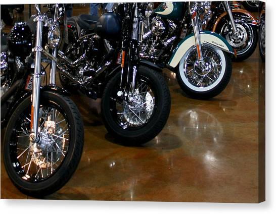 Harley Wheels Canvas Print