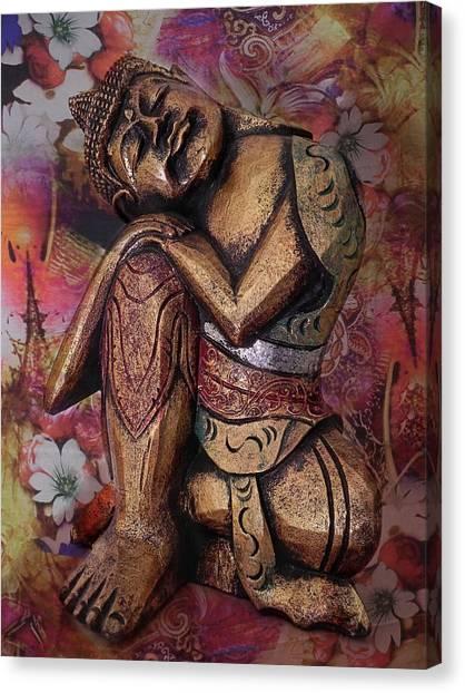 Hinduism Canvas Print - Harmony In Silence by Joachim G Pinkawa